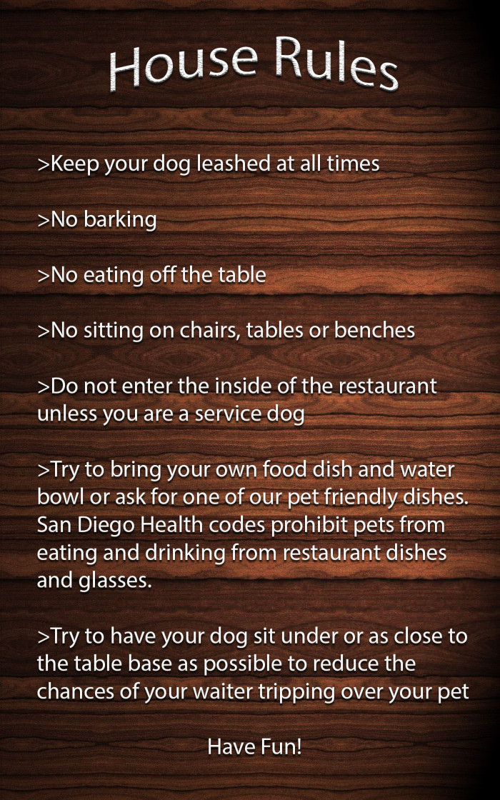house rules for dogs